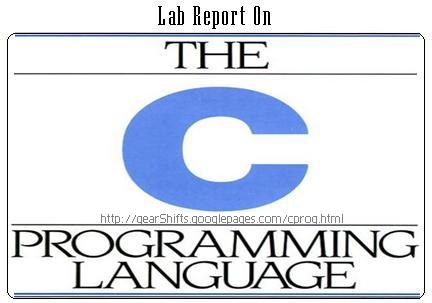 Lab report on The C Programming Language