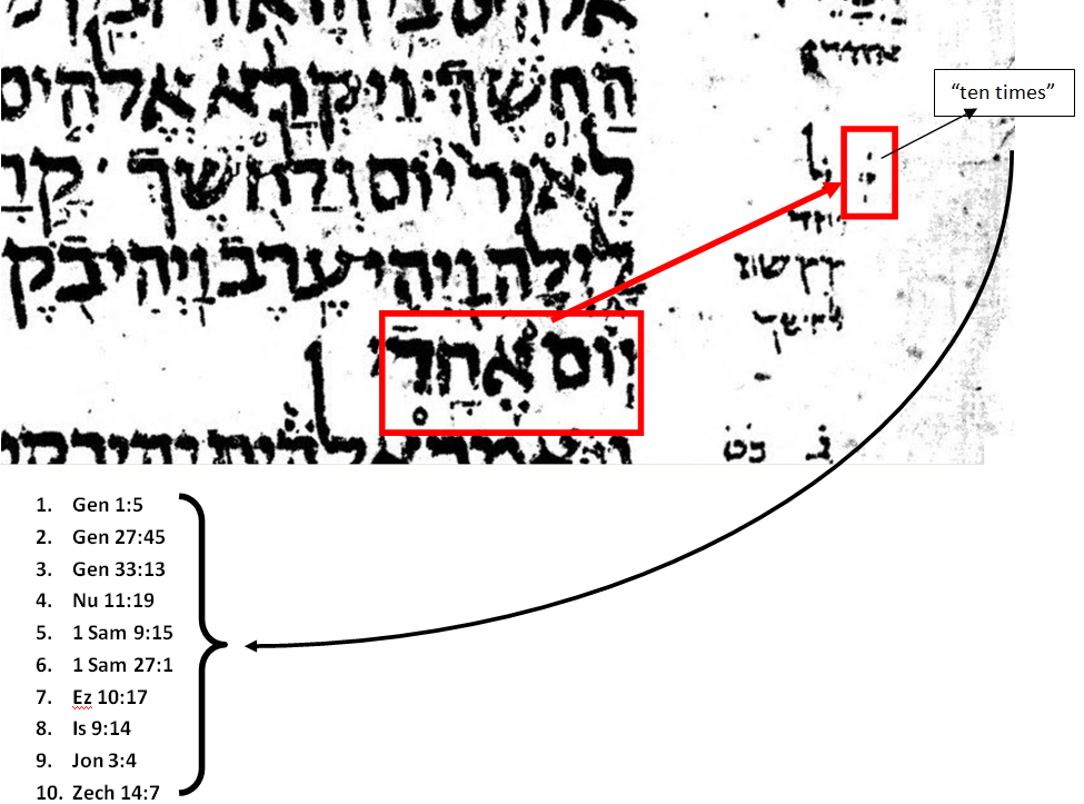 hebrew - What is the meaning of the paseq in Genesis 1 5