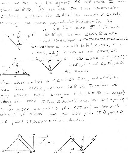 Sum of Triangle's angles proof - Geometry Notebook