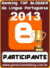 Ranking Top Blogger da Língua Portuguesa 2013 - Participante
