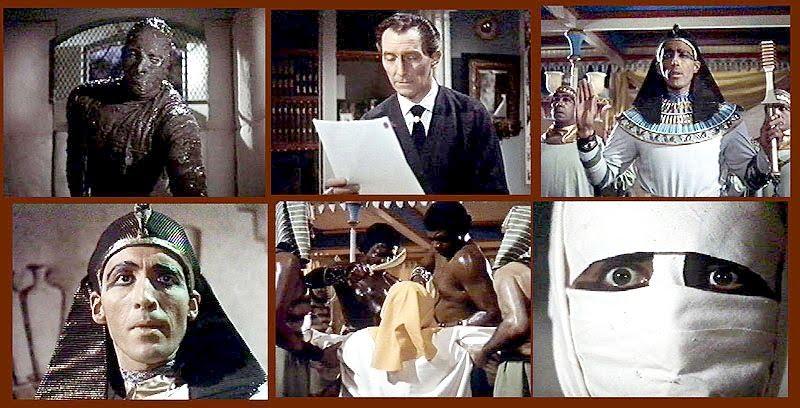 La versión de La momia de 1959, con Peter Cushing y Christopher Lee, dirigida por Terence Fisher, fue restaurada a color en el año 1987