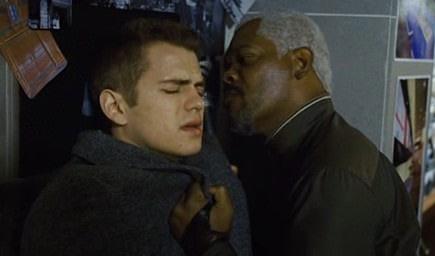 Hayden Christensen lucha contra el malo de Samuel L. Jackson