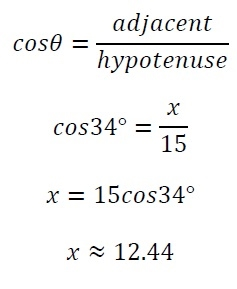 how to work out the length of the hypotenuse