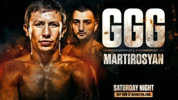 Image result for Golovkin vs Martirosyan Live