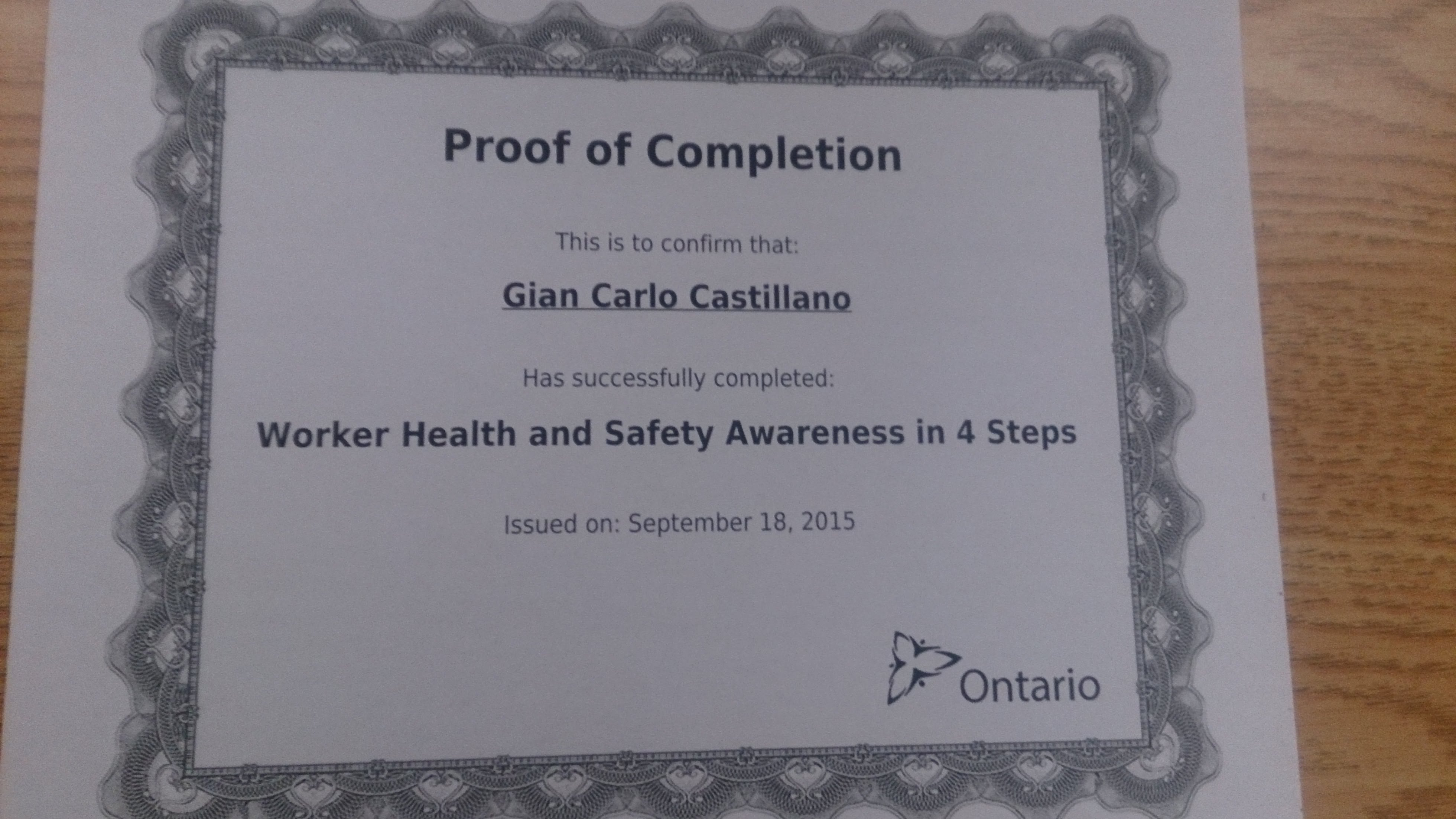 Worker health and safety awareness in 4 steps certificate gian worker health and safety awareness in 4 steps certificate 1betcityfo Gallery