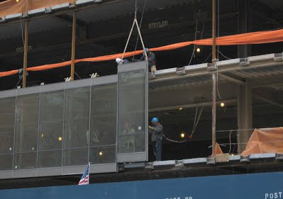 Unitized System Glass Curtain Wall Installation