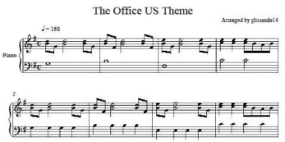 the office us theme sheet music glissando14 s homepage