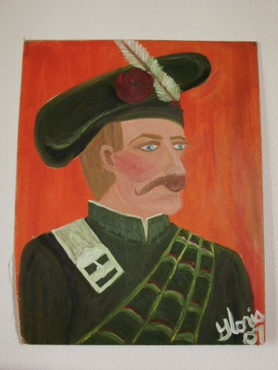"""The Scotsman"" oil painting painted by Gloria Poole in yr 2007."