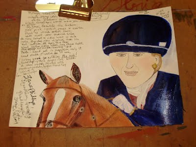 Zara Phillips=from-BBC-news-when-competing-w-my-notes-sketch-notes-photograph- by Gloria Poole-gloriapoole