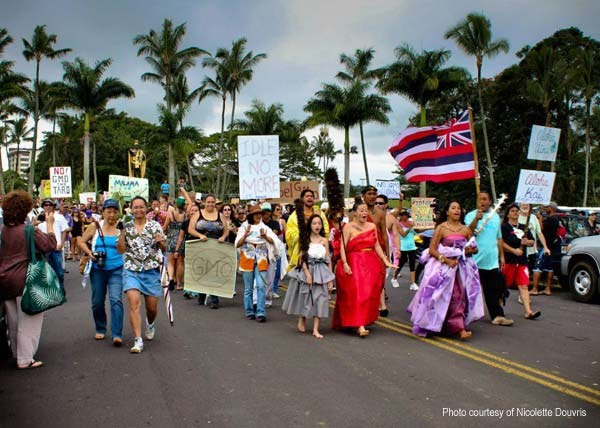 GMO Free Hawaii Island March Against Monsanto Hilo Hawaii 2013