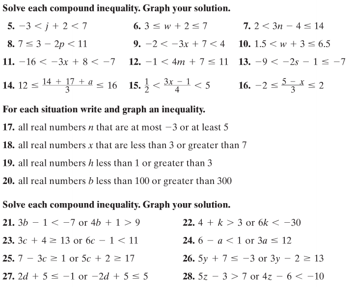 All Worksheets Compound Inequalities Worksheets Free Printable – Compound Inequalities Worksheet with Answers