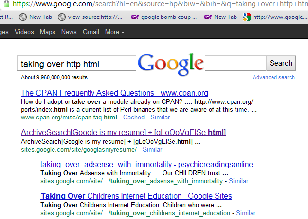 taking over http html using search manipulation technology