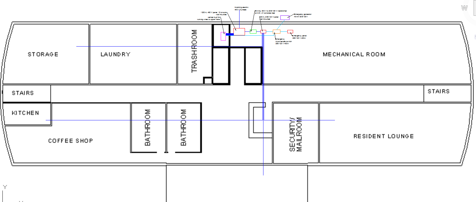 Electrical Single Line Diagram - Graduate Married Student Housing