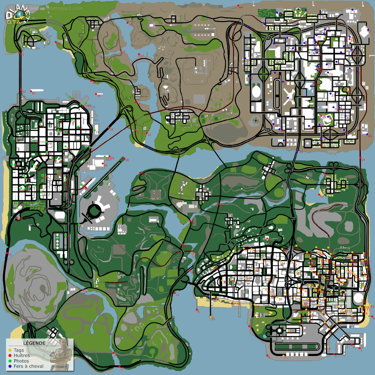 carte gta san andreas carte gta san andreas   grand thef auto