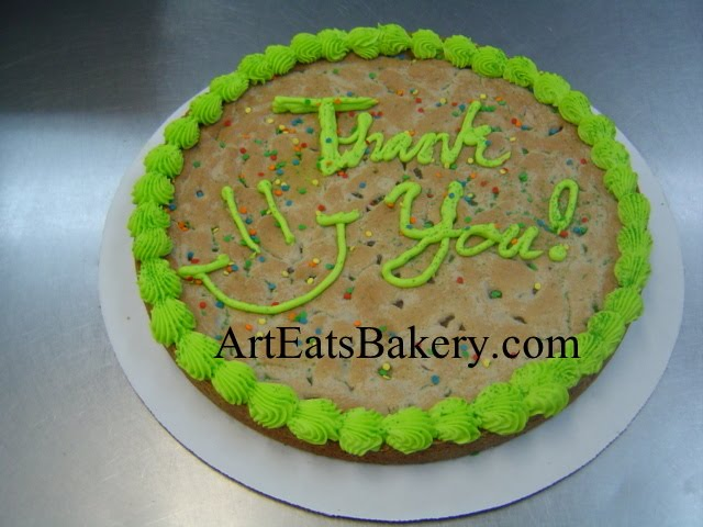 Giant chocolate chip cookie for thank you, birthday, get well or welcome