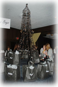 An impressive Eiffel Tower was the centerpiece of the room.