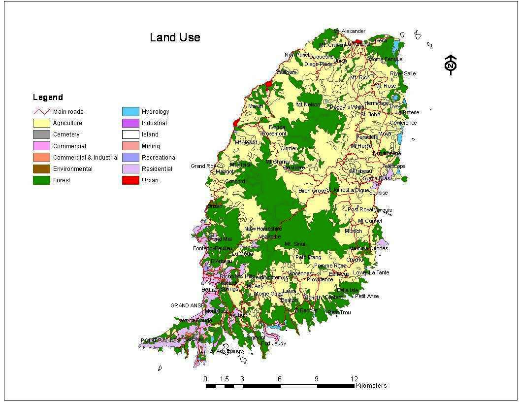 Land Use Map   Biodiversity Conservation Grenada