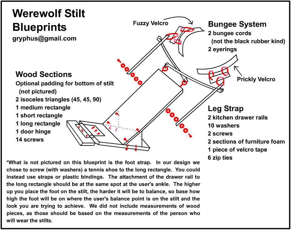 Cosplay tutorial the costuming resource werewolf stilt blueprints malvernweather Gallery