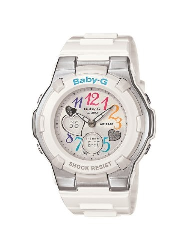 Baby-G –G-Shock for women- – Casio Women s BGA116-7B Baby G Multi Color  Dial and White Resin Strap Watch 1ee837aba064