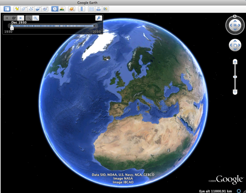 Go to google earth