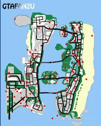 locations - gta vice city