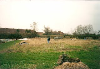 A picture of an allotment before any work has been done.