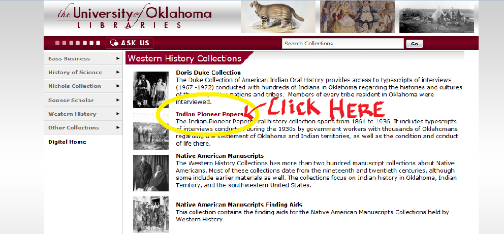 University of Oklahoma Library- Western History Collection
