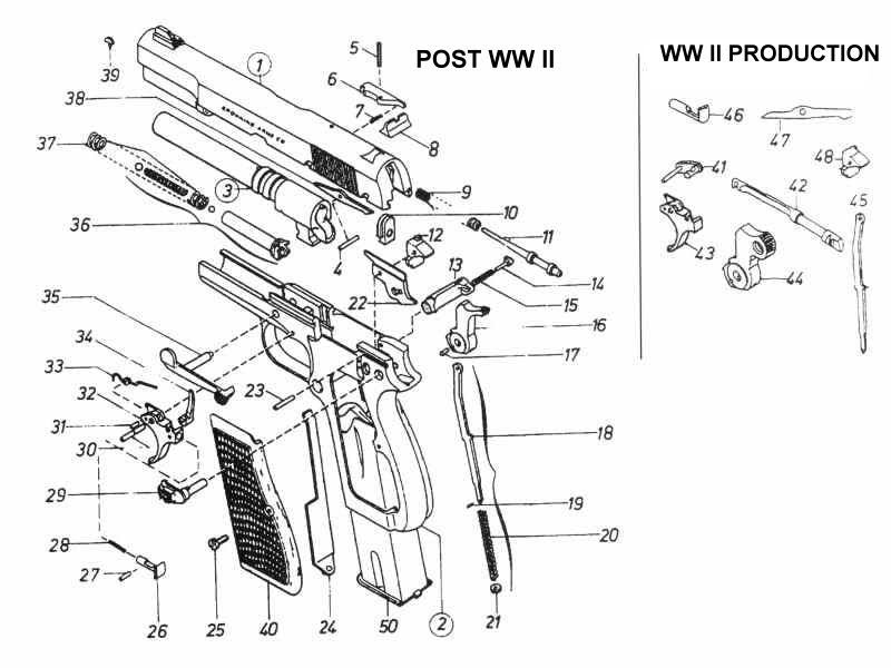 fn browning m.1906 cal. 6,35 exploded