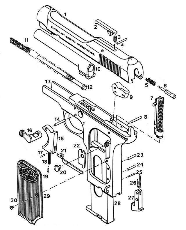 418 Cal 635 Exploded View Parts