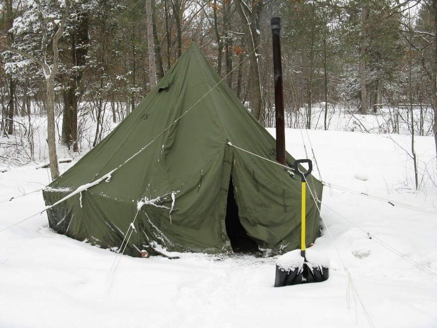 U S Army Surplus 5 Man Arctic Tent And Yukon M1950 Stove