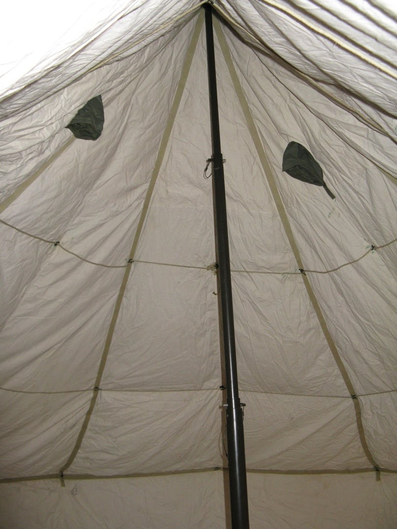 & U.S. Army Surplus 5 Man Arctic Tent and Yukon M1950 Stove