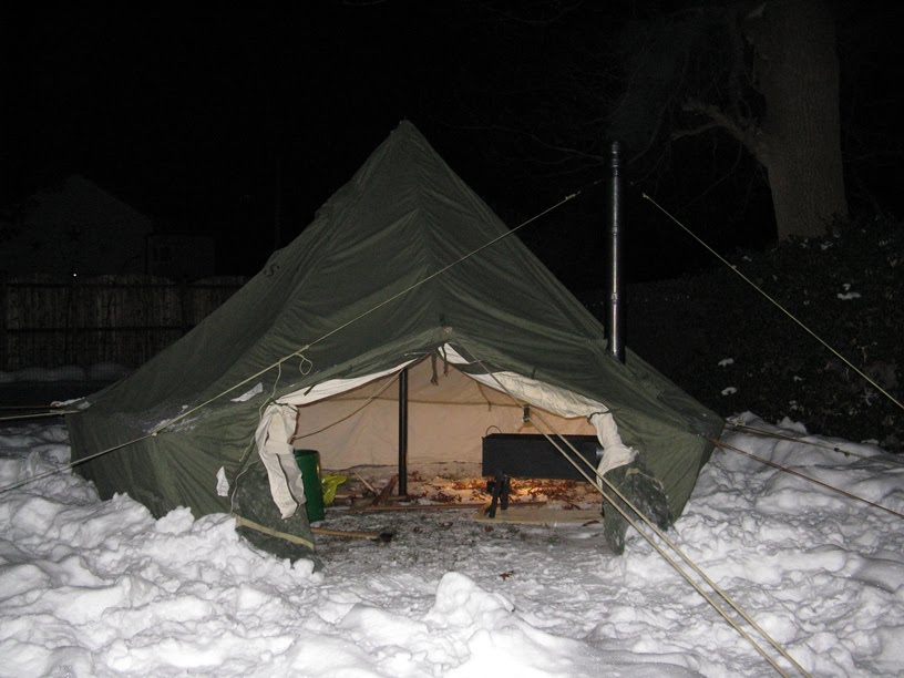 & US Army Surplus 5 Man Arctic Tent and Yukon Stove