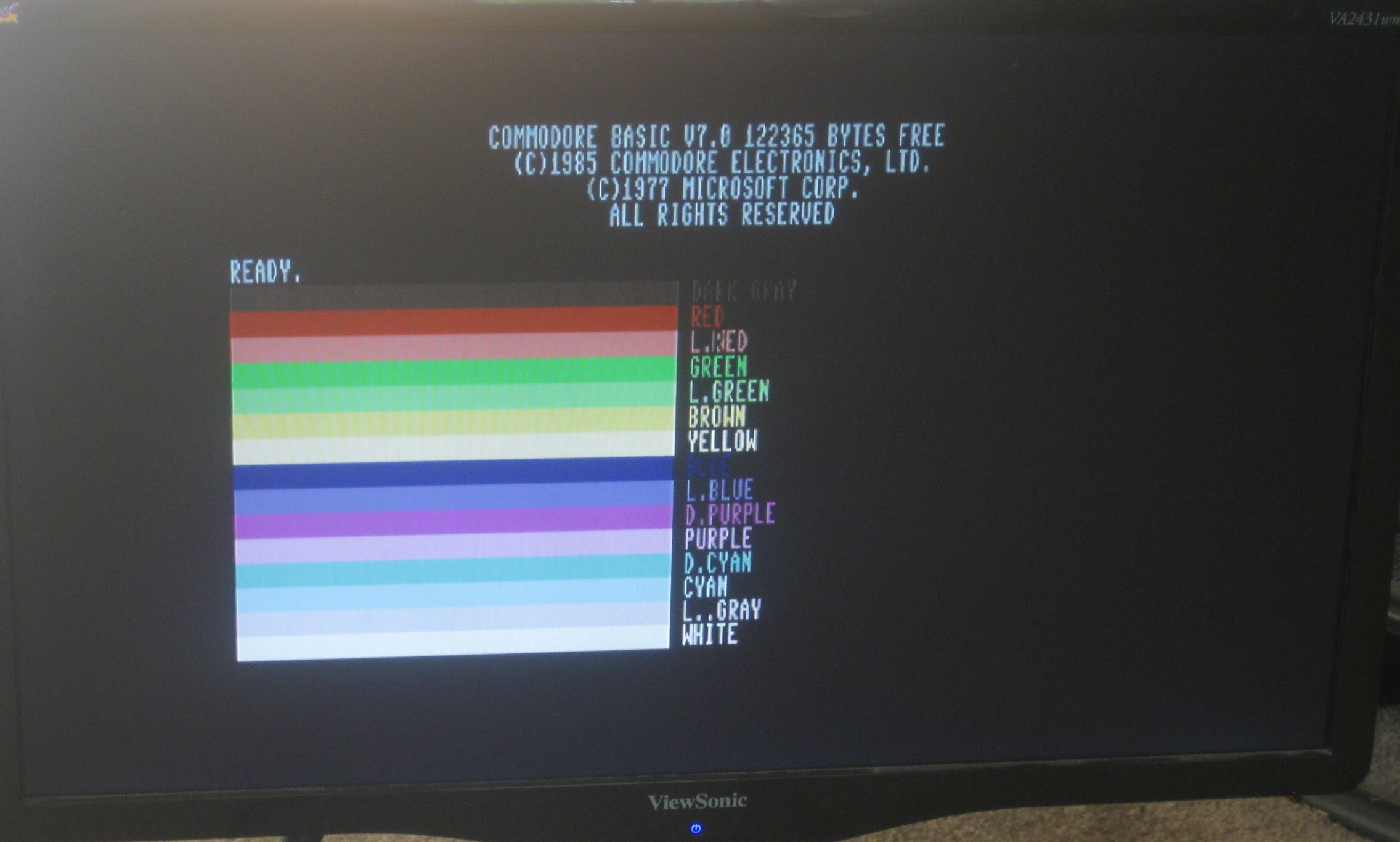 80-Column colors on VGA