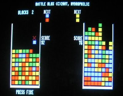 Photo of Battle Blox on the 80-Column display