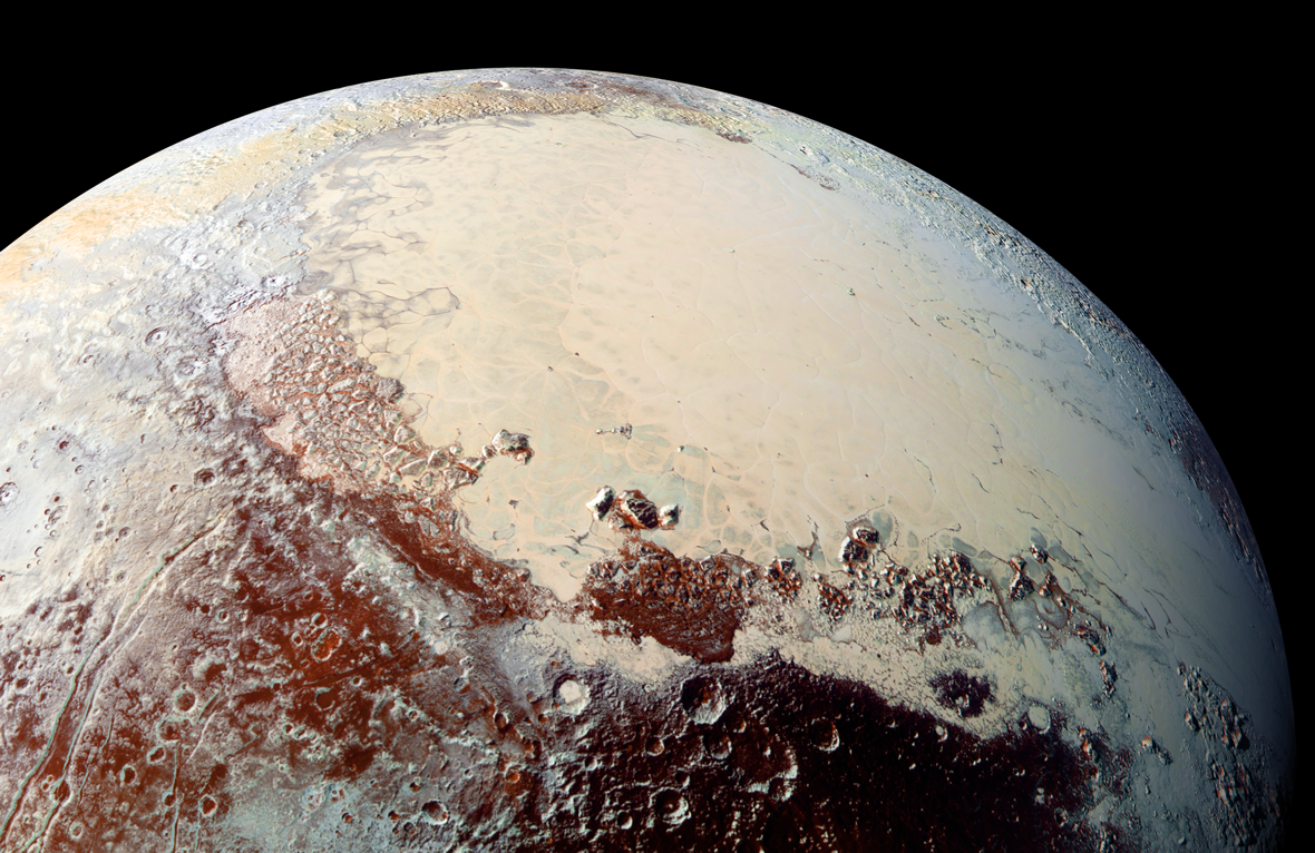 Image of Pluto captured by New Horizons in July of 2015.