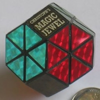 Photo of Christoph's Jewel (a corner-turning Octahedron puzzle missing the 'trivial tips')