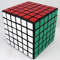 Photograph of a flat n=6 Cube