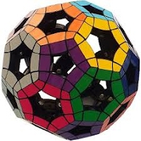 """Photo of Void Tuttminx: an [n=3] """"buckyball"""" without """"center"""" or """"core"""" blocks"""