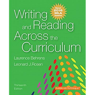 Download writing and reading across the curriculum mla update download writing and reading across the curriculum mla update edition 13th edition pdf epub kindle writing and reading across the curriculum fandeluxe Images