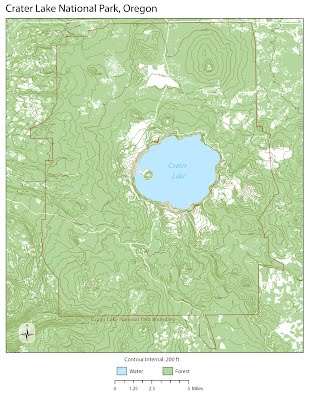 Crater Lake Topographic Map.Contour Topographic Map Haily Henderson S Portfolio