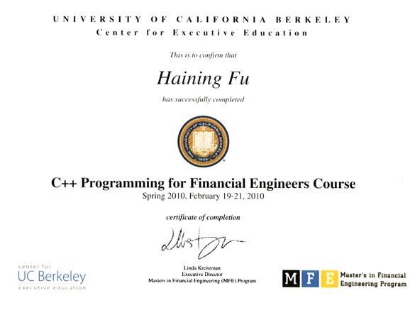 Financial Engineering C++ Projects - Travis Fu