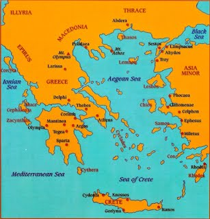 Ancient Greece Map Labeled Geography   HAL 6 Ancient Greece Webquest