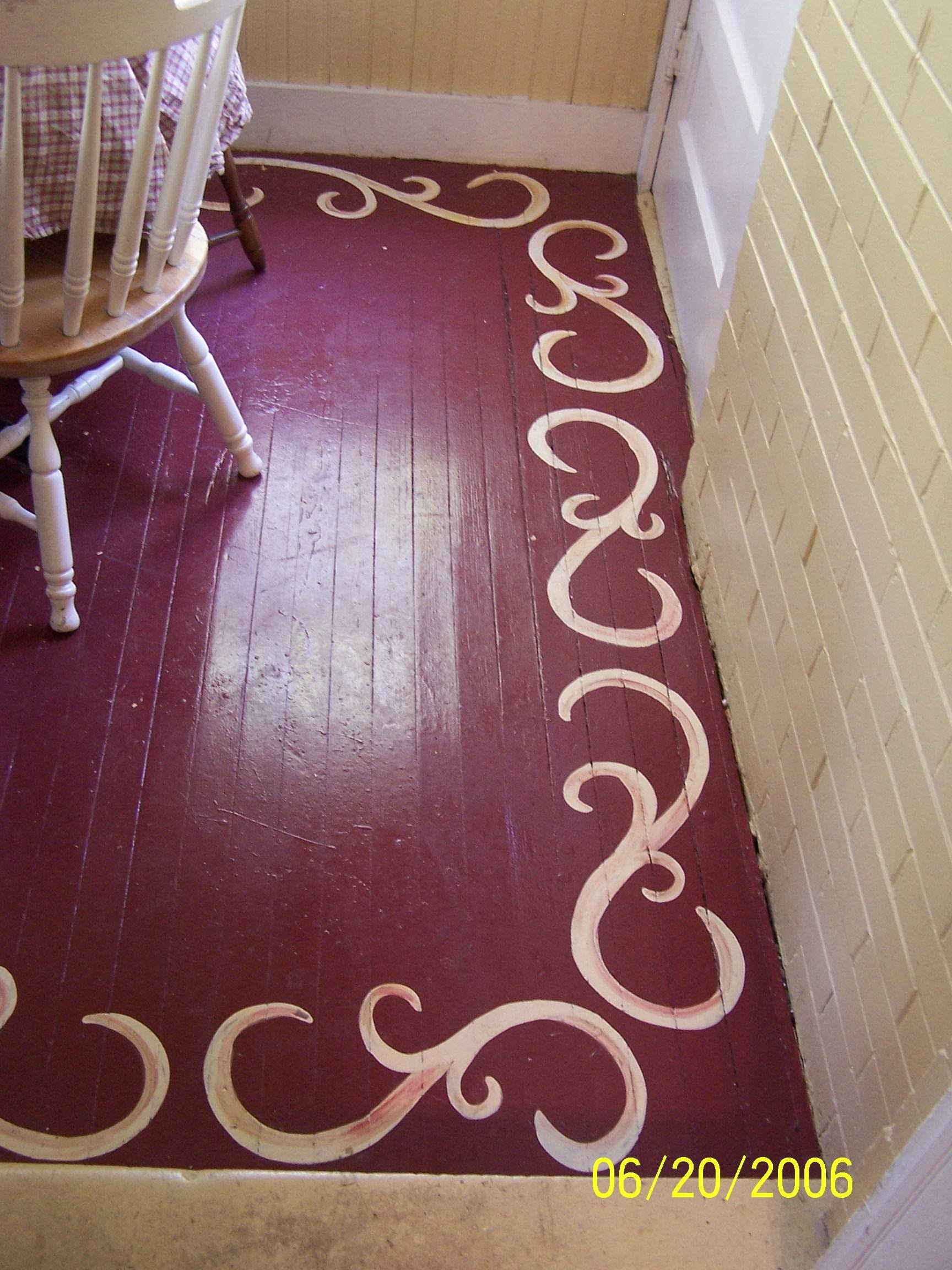 Wood Floor Paint Ideas Stencils And Creative Painting