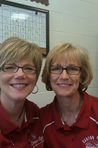 Mrs. J. Hall and Mrs. V. Larsen