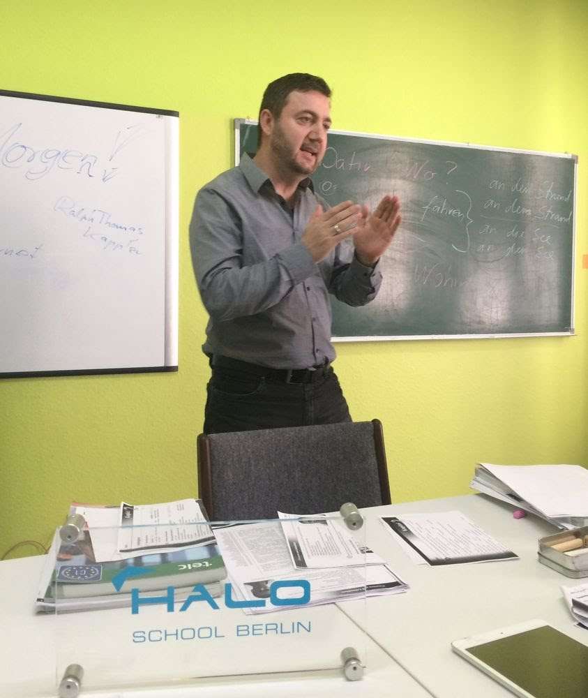 HALO SCHOOL in Berlin Charlottenburg. German language classes from A1 to C2 level, examen preparations for Telc  DaF  & Goethe certificates.