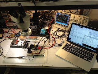 my workbench with the pi