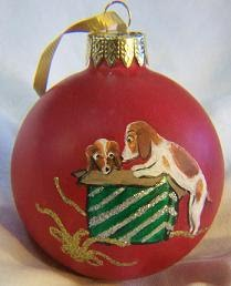 beagles Christmas ornament
