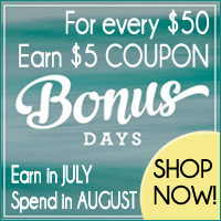 Stampin Up Bonus Days