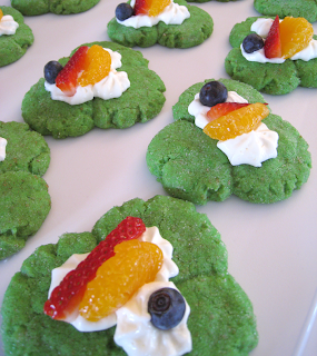 Snickerdoole Shamrock Fruit Cookies