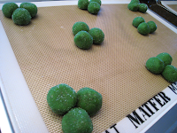 Make shamrock shapes (and even some with four leaves) and lightly flatten 'em